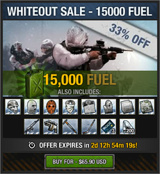 Whiteout Sale - 15000 fuel