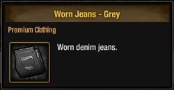 Worn Jeans - Grey