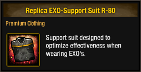 Replica EXO-Support Suit R-80