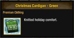 Christmas Cardigan - Green