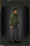 Military Shirt - Green equipped male