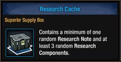 Research Cache box