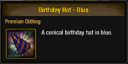 Tlsdz birthday hat blue