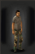 Camo Pants - Woodland equipped male