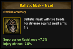 Ballistic Mask - Tread