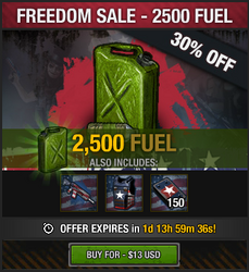 Freedom Sale - 2500 fuel