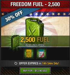 Tlsdz freedom fuel 2500 fuel package