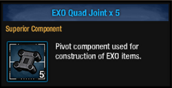 Exo quad joint