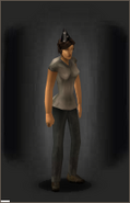 Birthday Hat - Black equipped female