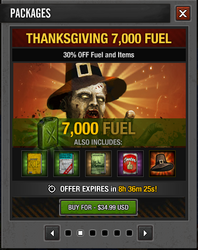 Tlsdz thanksgiving 7000 fuel
