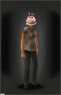 Cake Hat equipped female
