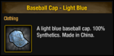 Baseball Cap - Light Blue