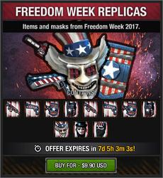 Freedom Week Replicas