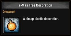 Z-Mas Tree Decoration 2015