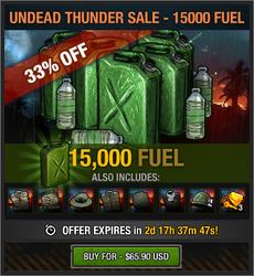 Undead Thunder Sale - 15000 Fuel