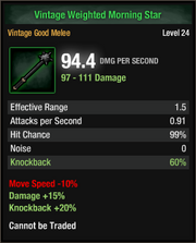 Vintage Weighted Morning Star Lvl 24