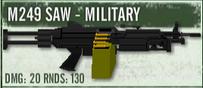 Military M249 SAW TLSUC