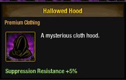 Tlsdz hallowed hood