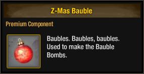 Z-Mas Bauble 2018