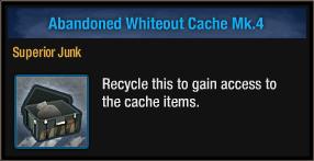 Abandoned Whiteout Cache Mk 4