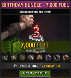 Tlsdz 3rd year birthday bundle 7000 fuel