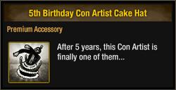 5th Birthday Con Artist Cake Hat