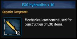 Exo hydraulic