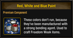 Red White and Blue Paint