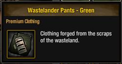 Wastelander Pants - Green