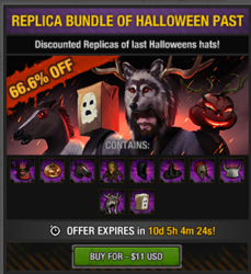 Halloween past items