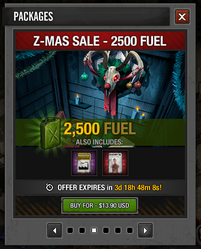 Z-Mas 2015 Sale 2500 fuel