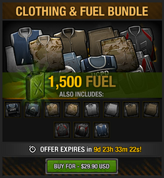 Clothing and Fuel Bundle