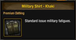 Military Shirt - Khaki