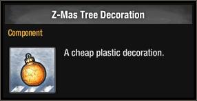 Z-Mas Tree Decoration 2017