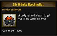 5th Birthday Boosting Box inventory view