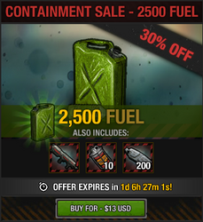 Containment Sale - 2500 fuel