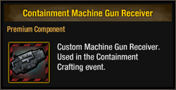 Containment Machine Gun Receiver