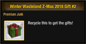 Winter Wasteland Z-Mas 2018 Gift 2