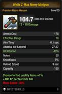 White Z-Mas Merry Minigun