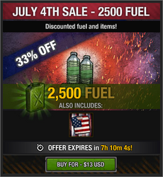 July 4th Sale - 2500 Fuel