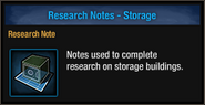 Research-note-storage