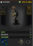 Scav no backpack