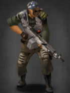 Survivor with scoped M-240