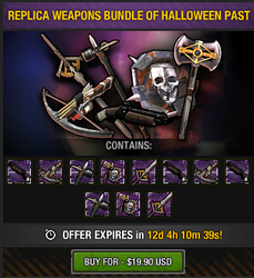 Replica Weapons Bundle of Halloween Past