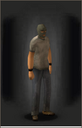 Ski Mask Green equipped male