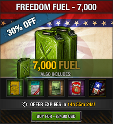 Tlsdz freedom fuel 7000 fuel package