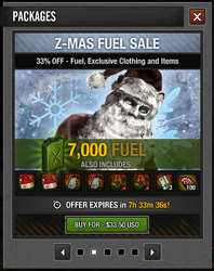 Tlsdz Z-Mas Fuel Sale 7000