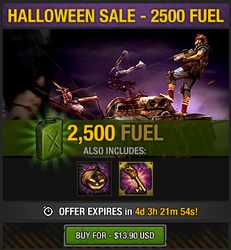 Tlsdz halloween sale - 2500 fuel