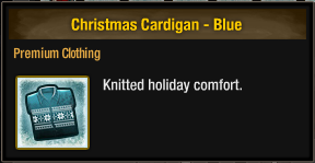Christmas Cardigan - Blue