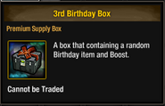 Tlsdz 3rd birthday box